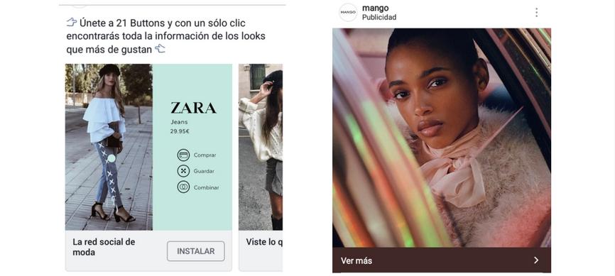 Ejemplos de anuncio en Facebook