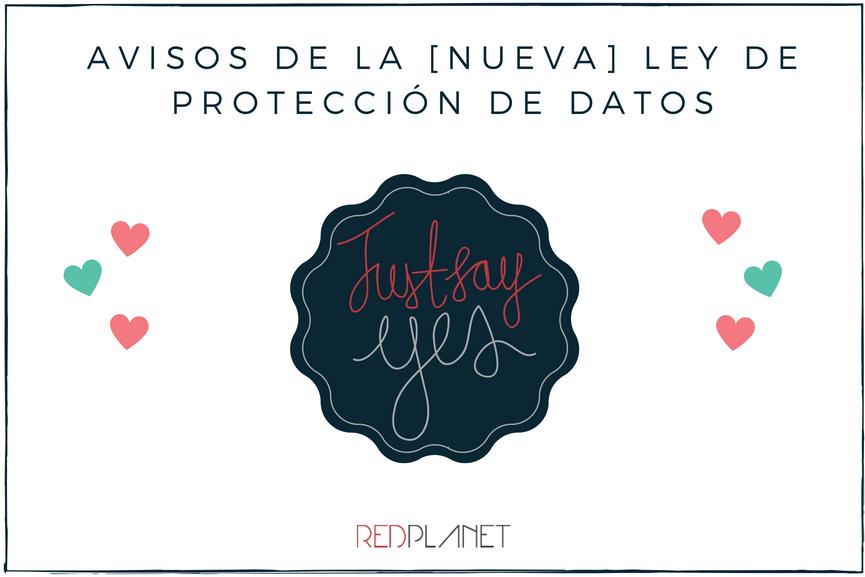 Avisos de la nueva ley de protección de datos