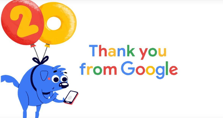 20 aniversario de Google