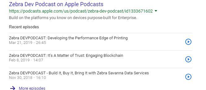 Los podcasts aparecerán en los resultados de búsqueda