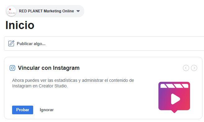 Programar Instagram desde Facebook